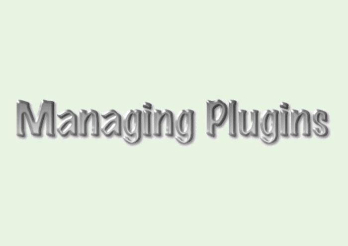 Managing Plugins