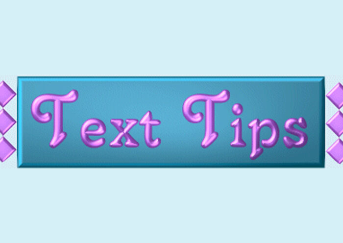 Text Tips